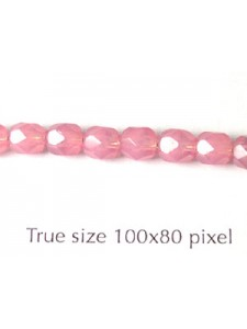CZ Round Faceted 5mm Opal Pink