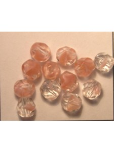 CZ Round Faceted 6mm 2 Tone Opal Pink