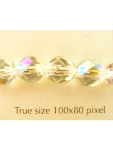 CZ Round Faceted 8mm Clear AB