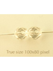 CZ Round Faceted 8mm Clear