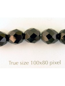 CZ Round Faceted 8mm Jet