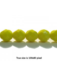 CZ Round Faceted 8mm Lemon Yellow