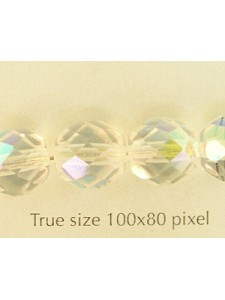 CZ Round Faceted 10mm AB