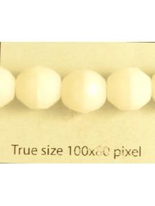 CZ Round Faceted 10mm Chalk White