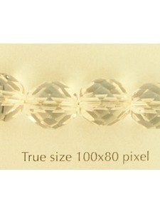 CZ Round Faceted 10mm Clear