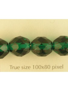 CZ Round Faceted 10mm Emerald