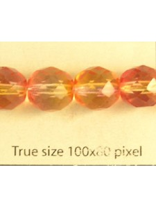 CZ Round Faceted 10mm Fireopal