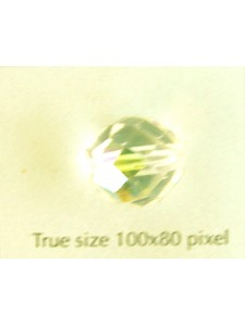 CZ Round Faceted Bead 12mm Clear AB