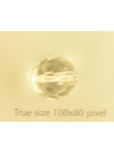 CZ Round Faceted Bead 12mm Clear