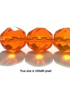 CZ Round Faceted 12mm Trans med Orange