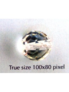 CZ Round Faceted 14mm Clear