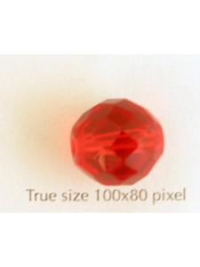 CZ Round Faceted 14mm Ruby