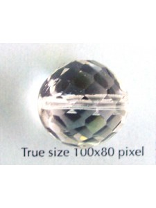 CZ Round Faceted 18mm Clear