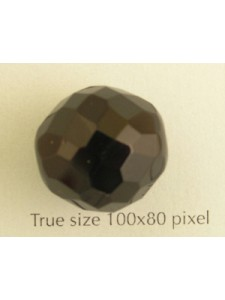 CZ Round Faceted 18mm Black