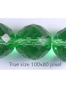 Czech Round Bead 18mm Ligh Green