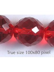 CZ Round Bead 18mm  Ruby
