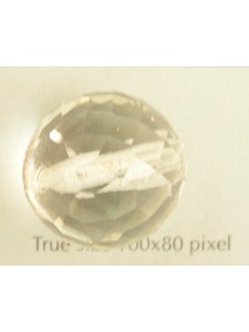 CZ Round Faceted Bead 20mm Clear