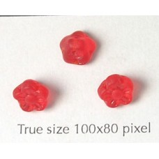CZ Flower Disc 7mm Red