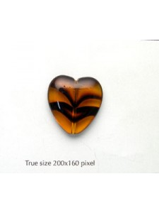 CZ Heart 22mm Topaz Tortoise
