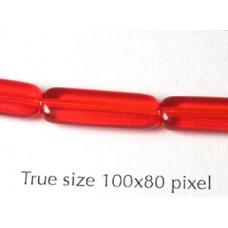 CZ Rectangle 6x17mm Ruby
