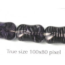 CZ Twist Rectangle 10x15mm Clear/stripes