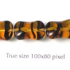 CZ Twisted Rectangle 15x10mm Tortoise
