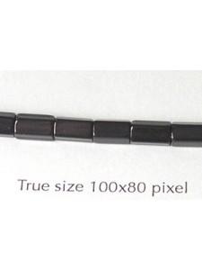 CZ Satina 6x4mm Black