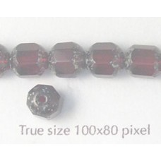 CZ Tube 7x8mm Garnet with Stone effect