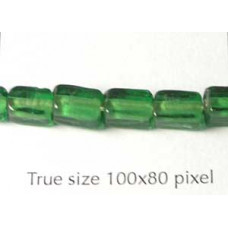 Cube Bead Emerald 5x7mm Emerald