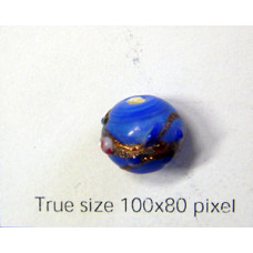 Indian Amber Bead 10mm Blue
