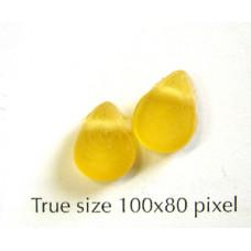 Flat Glass Drop Amber