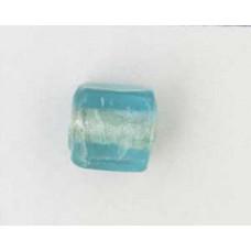 Indian Cube 10mm Silver Foiled Aqua