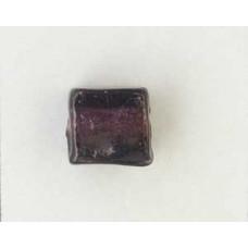 Indian Cube 10mm Silver Foiled Dk Amethy