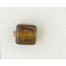 Indian Cube 10mm Silver Foiled Dk Amber
