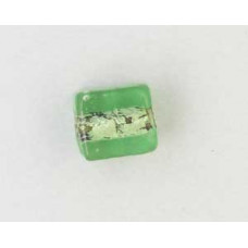 Indian Cube 10mm Silver Foiled Lt Green