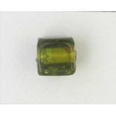 Indian Cube 10mm Silver Foiled Olivine