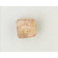Indian Cube 10mm Silver Foiled Peach