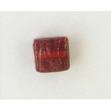 Indian Cube 10mm Silver Foiled Siam Red