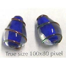 Bead Style008 Drop 15x10mm Dark Blue