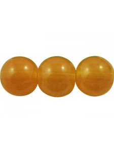 Glass Bead 10mm Light Brown 31in strand