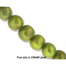 Pearl 8mm Potato Dark Olive Green 15in
