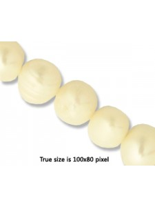 Pearl 10mm  Potato White (0.8 mmH) 15in