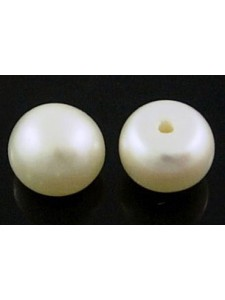 Natural Pearl half round 5.5mm White