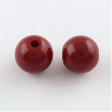 Arcylic Bead 8mm Round Red 100gr ~360