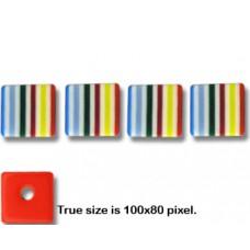Liquorice Resin Bead Cube 8mm Multi Colo