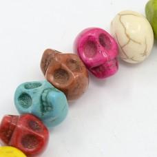 Skull Beads 10x12mm Mix 32pcs/stra
