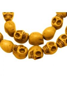 Skull Beads 12mm Yellow 16inch strand