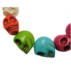 Synthetic Skull 24x29mm Mixed Col -EACH