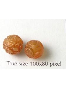 Jade Round Carved Carnelian