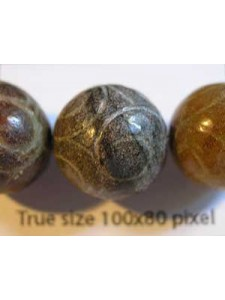 China Jade 15mm Round Bead Carved Design